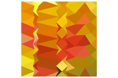 Golden Poppy Abstract Low Polygon Ba by patrimonio on @creativemarket