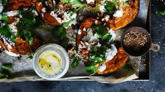 Neil Perry does a mean spice-roast pumpkin with garlic yoghurt and almonds!