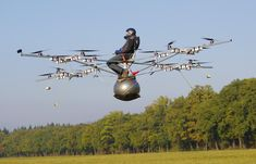 Seems like some people like to experiment with quadcopters :D We wonder how far did he fly like this...