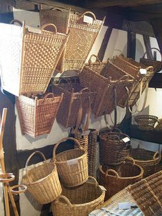 Thüringer Korbmachermuseum, Germany -- Love the shape and patterns on the two upper left baskets