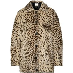 By Malene Birger Tidara oversized leopard-print faux calf hair bomber... ($575) ❤ liked on Polyvore featuring outerwear, jackets, pony hair jacket, flight jackets, blouson jacket, snap jacket and oversized jacket
