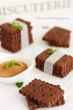 Chocolate carob cookies.