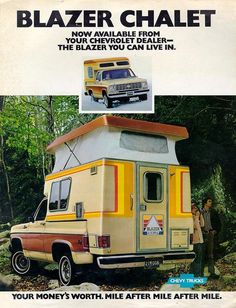 old classic slide in camper Chalet