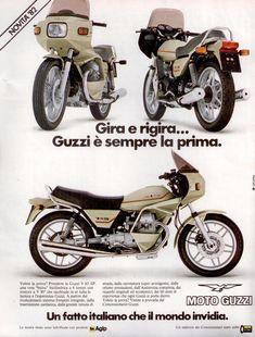 Pubblicità originale anni 80 MOTO GUZZI V 65 SP advertising werbung reklame Motorcycle Posters, Motorcycle Style, Vintage Poster, Vintage Ads, Vintage Advertisements, Old School Art, Moto Guzzi Motorcycles, Retro Bike, Motorcycle Manufacturers