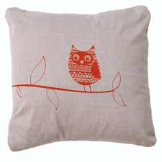 cotton owl animal cushion by clothkat | notonthehighstreet.com