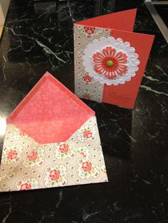 Stampin' Up card and matching evenlope