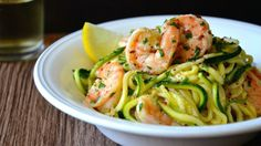 21 day fix Shrimp Scampi with Zucchini Noodles 1 red 1 green 2 teaspoons