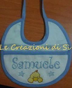 Bavaglino realizzato per Sarah - Sassari (SS) -  Visita la mia pagina facebook Le Creazioni di Sì.