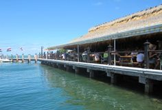 Dining at the Island Fish Company, in Marathon....Just don't do happy hour unless your pockets are loaded. It can be pricey!