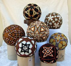 All My Temari Neutrals Group (3) by starhandarts, via Flickr