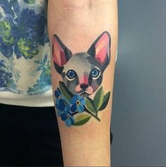 These Colorful Tattoos By Sasha Unisex Aren't What You Expect
