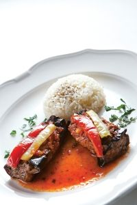 Turkish food - scroll down for eggplant recipe with no grains