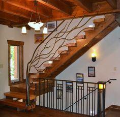 Tree Branch Railing | ornamental iron railing, tree railing