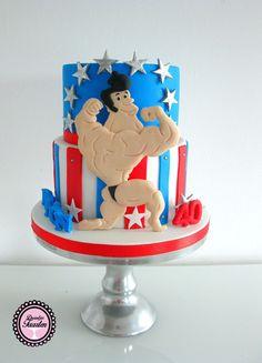 bodybuilder verjaardagstaart
