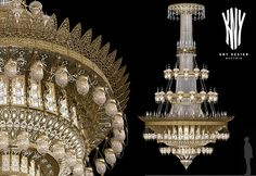 Very Large Crystal Chandelier for Grand Mosque by Kny Design Austria, one of the world's leading manufacturer of custom, large-scale chandeliers. Swarovski, Hanging Lamps, Traditional Lighting, Grand Mosque, Chandelier Lamp, Mosques, Large Crystals, Led, Modern Lighting