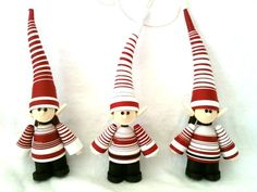 Elf Christmas Ornament Paper Quilled Set