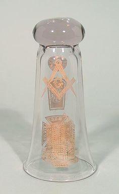 Masonic Bottoms Up Glass