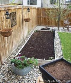Stones around raised garden beds. Love this idea for a vegetable garden. by marquita