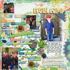 Digital Scrapbook Page by Britt | Boys of Summer by Bella Gypsy Designs