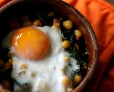 Recipe For One: Chickpeas, Kale, and Sausage with Oven-Baked Egg — Recipes from The Kitchn