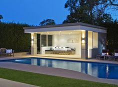 Outdoor open air Cabana, house in Ayres Rd, St Ives, Sydney Australia Modern Gazebo, Pool Houses, Outdoor Rooms