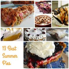 Bring In the Sunshine with 13 Fabulous Summer Pies! Fun Desserts, Dessert Recipes, Dessert Ideas, Good Food, Yummy Food, Delicious Recipes, My Favorite Food, Favorite Recipes, Baking Recipes