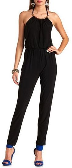 Black Jumpsuit by Charlotte Russe. Buy for $20 from Charlotte Russe