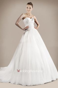 The Best Pretty Strapless Beaded Ball Gown Wedding Dress - Wholesale and Retail Online Shop Wedding Dress