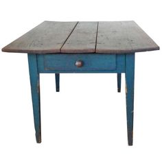 19thc Original Green Painted Three Board Top Farm Table | From a unique collection of antique and modern farm tables at http://www.1stdibs.com/furniture/tables/farm-tables/