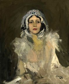 Sir John Lavery (1856-1941) Anna Pavlova as The Swan