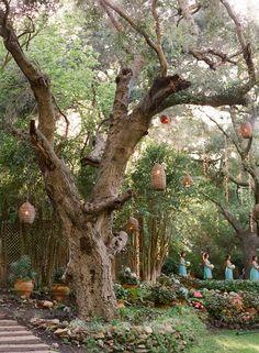 rustic ~ hanging wicker lanterns