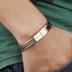 Premium Gold Stainless Steel Cross Bracelet //Price: $27.50 & FREE Shipping //     #hashtag4