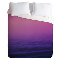 Leah Flores Sunset Waves Duvet Cover | DENY Designs Home Accessories