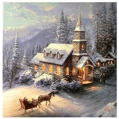 Sleigh Ride.  Thomas Kincade