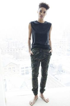 Looking forward to trying the slouchy not-quite-sweatpants look, but prob not in camo. Love the top too.   Photo credit: Allie Leepson from Veer NYC