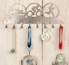 Triathlete Medal Display Rack. $40.00, via Etsy.