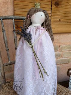 Princess Statue Pink Princess Statue Handmade Princess Pink Dress, Flower Girl Dresses, Pink Princess, Pink Fabric, Baby Room Decor, Cute Pink, Girl Room, Her Hair, White Lace