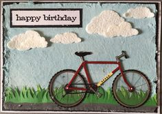 silhouette mountain bike happy birthday card birthday wishes