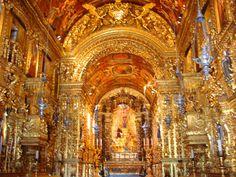 Igreja de São Francisco da Penitência, no Rio, tem interior revestido de ouro