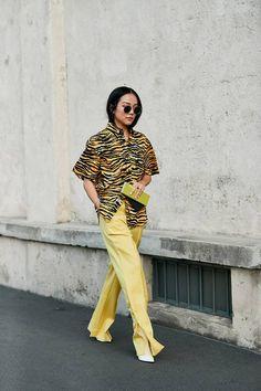 Milan Fashion Week Street Style for September 2018 Milan Fashion Week Street Style, Milano Fashion Week, Street Style Trends, Street Style Summer, Autumn Street Style, Cool Street Fashion, Street Style Looks, Street Chic, Street Styles