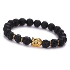Check out Black Lava Stone Buddha Bead Bracelets for $1.67. Get it on Shopee now! https://shopee.sg/overtherainbow.sg/77882878 #ShopeeSG