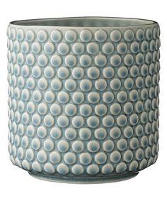 This Sky Blue Flower Pot is perfect! #zulilyfinds
