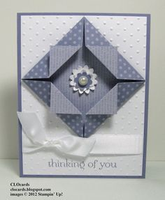 Pretty Paper Folding by CLOcards - Cards and Paper Crafts at Splitcoaststampers
