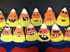 Estimation: how many paper pieces will fit into the candy corn? Then give them some candy corns at the end :)