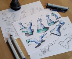 Sketches by Marius Kindler
