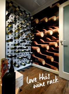 nice wine rack wall :)