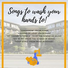 20 seconds is the magic rule to thoroughly clean your hands. Make those 20 seconds musical by hitting the chorus of these great songs! 😊👐 #handwashingday #clean #hands #savelives #staysafe #20seconds #seniors #seniorliving #gilmoregardens #richmond