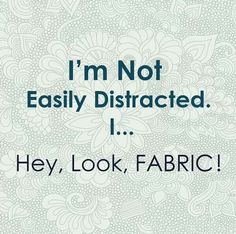 Fabric! Sewing humor:  #LetsSew