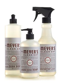 I like cleaning products that don't smell like your typical cleaning products.  Lavender Kitchen Basics Set from Mrs. Meyers Clean Day does the job, although J. R. Watkin's products are still my favorite.