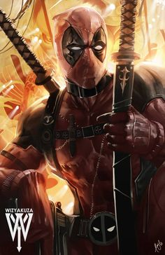 #Deadpool #Fan #Art. (Deadpool) By: wizyakuza. (THE * 5 * STÅR * ÅWARD * OF: * AW YEAH, IT'S MAJOR ÅWESOMENESS!!!™) [THANK U 4 PINNING!!!<·><]<©>ÅÅÅ+